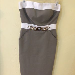 Strapless dress with pockets